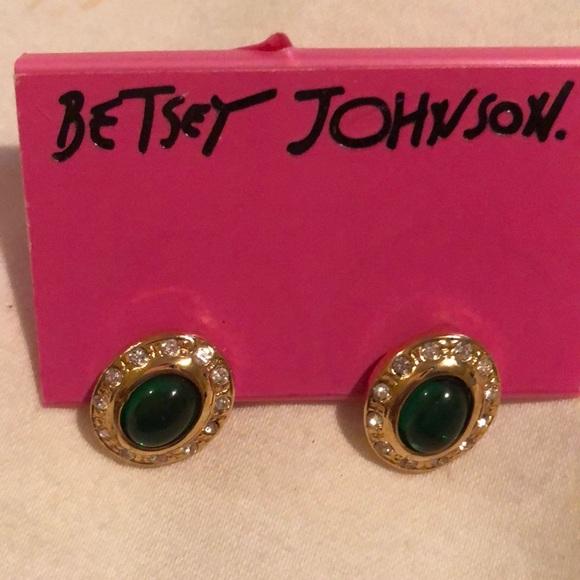 Betsey Johnson green earrings